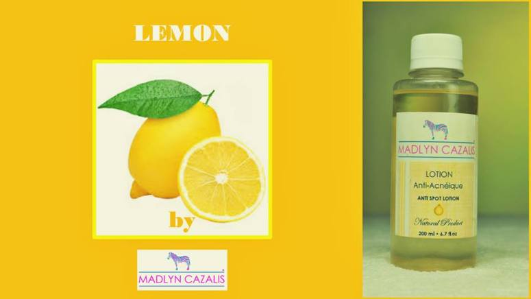 lotion anti acnéique citron