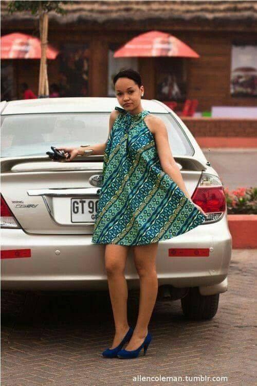 modèle wax enceinte africain